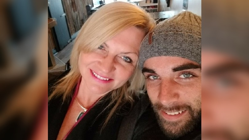 Sandy Slater (left) with her son Adam Grant Howard in 2017. Howard's remains were found near Lakeville in May and RCMP have determined there was no criminality involved in Howard's death, leaving family with unanswered questions.
