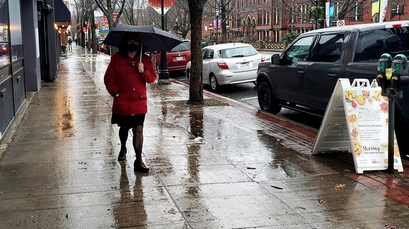 A rainfall warning is in effect Friday for several areas of New Brunswick.