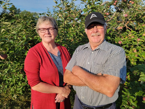 Linda and Don Bostwick, of Bostwick Family Orchard, encourage anyone to give apple picking a try later in September to enjoy fresh air and fresh food to take home.