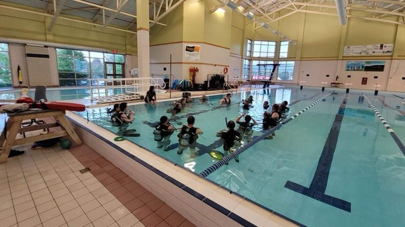 The Nutrien Civic Centre has partnered with Shediac-based La Dive Shop, which has been performing part of itsscuba diving lessons in the pool this year.
