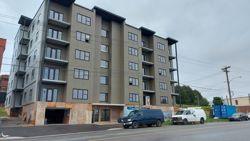 The exterior cladding of The Atlantic, a 29-unit apartment building on Lower Cove Loop, was the cause of a $40,000 settlement between the City of Saint John and Mike Cavanagh Homes Inc.