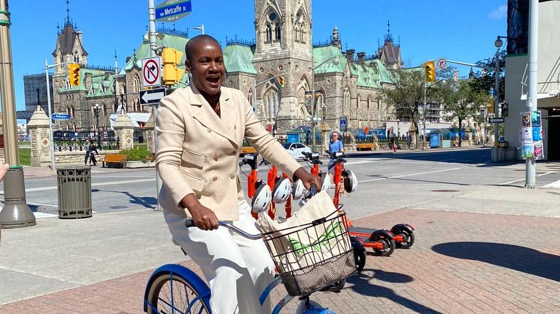 Federal Green Leader Annamie Paul in Ottawa on Friday.