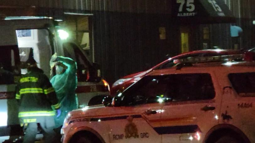 Codiac Regional RCMP investigate an incident at the House of Nazareth shelter on Albert Street on Sept. 10.