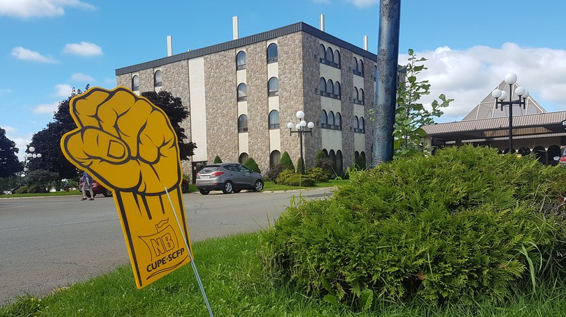 """Some Canadian Union of Public Employees localswill see their strike voteextended to Sept. 18, as the union said Friday some eligible workers were """"omitted"""" from voter lists.A CUPE voting station at the Fredericton Inn is pictured."""
