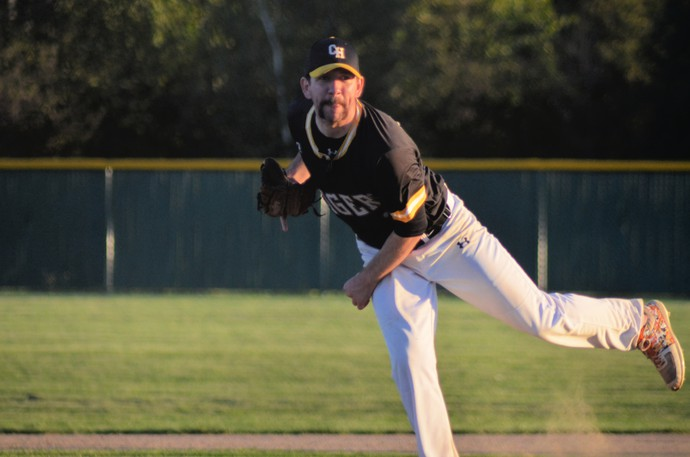 Sonny Newman held the Dalhousie Coors Light Dodgers to three hits while striking out 13 batters in the host Chatham Head Tigers' 7-0 win over the Dodgers Saturday during the New Brunswick Intermediate A Baseball Championships at Waldo Henderson Memorial Field.