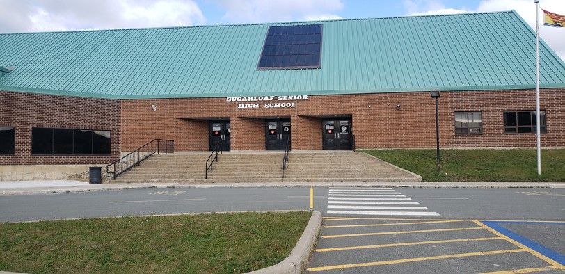 Sugarloaf Senior High School in Campbellton was among the area schools closed on Monday for a learning-at-home day due to positive COVID-19 cases. No fewer than 48 new cases were announced for Zone 5 on Monday, 28 of them in people under the age of 19.