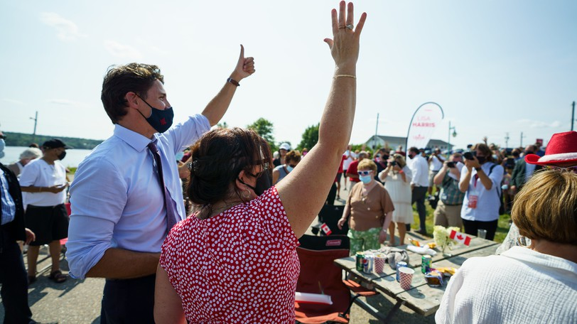 Liberal Leader Justin Trudeau is pictured campaigning in Miramichi earlier this summer.