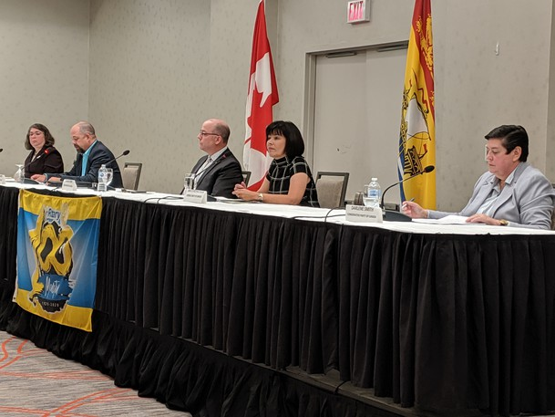 Federal candidates from the Moncton-Riverview-Dieppe riding discuss topics such as affordable housing, climate change, and COVID-19 recovery in a forum hosted by the Moncton Rotary Club on Monday.