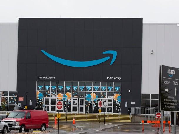 Amazon's warehouse in Nisku, Alta.