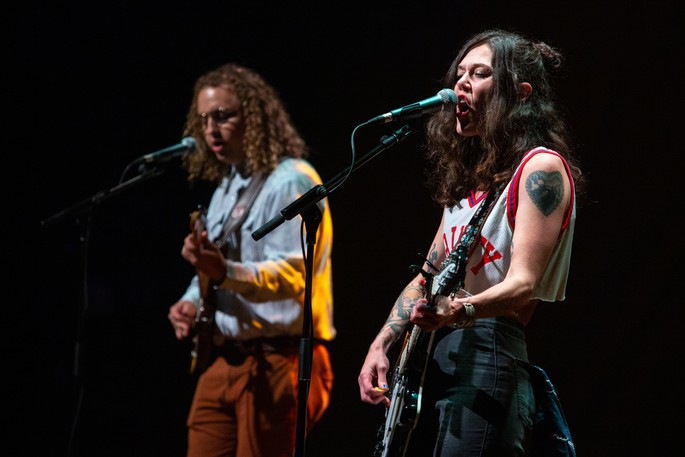 Lilly Hiatt performs at the Fredericton Playhouse as part of the Harvest Music Festival on Friday.