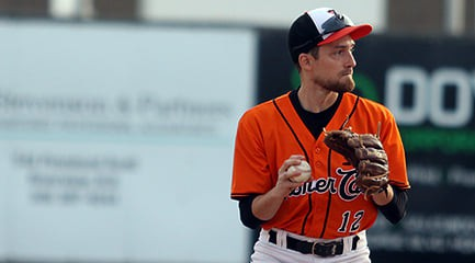 Moncton Fisher Cats second baseman Stefan Martin was selected a New Brunswick Senior Baseball League all-star this season.