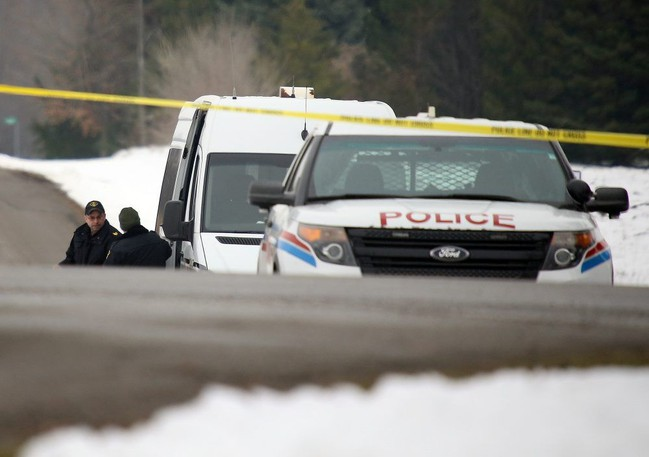 OPP and SIU investigators in Pelham, Ont. on Friday investigating an altercation between two Niagara police officers that saw one open fire on the other.