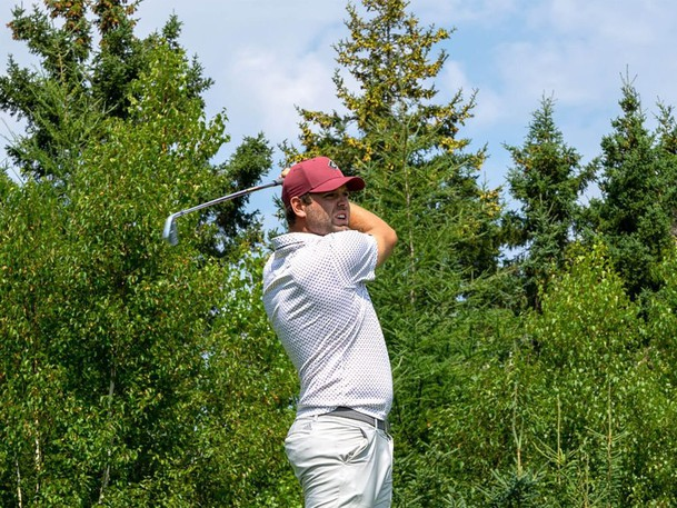 Anthony Brodeur, the son of one of the greatest goaltenders in hockey history, is teeing it up at the Mackenzie Tour-PGA Tour Canada's ATB Financial Classic in Calgary.