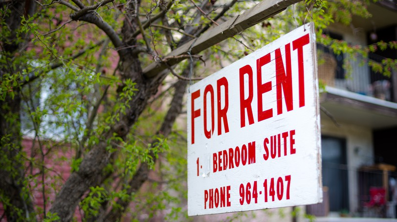 A rent sign is seen in this file photo. Blair MacDonald writes that rent control should be part of an approach to address the shortage of affordable housing in New Brunswick.