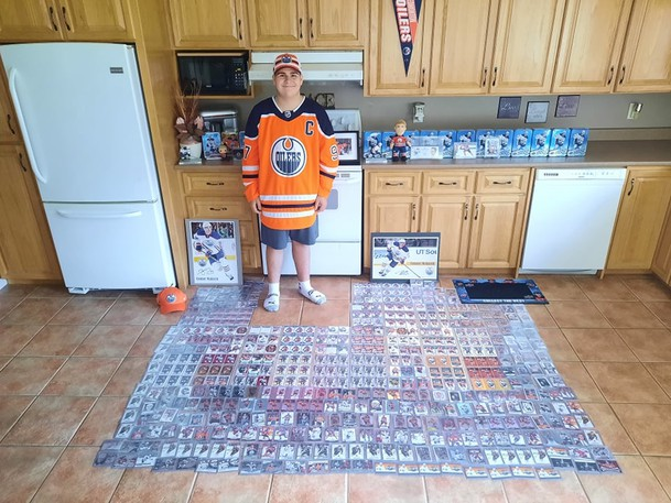 Recchi Robichaud, a teenage superfan from Baie-Sainte-Anne, recently got his second shout-out on the Edmonton Oilers' website in a little more than a year for his Connor McDavid hockey card collection. He also was contacted Tuesday by McDavid and invited to attend an Oilers pre-season game with his family on Sept. 28.