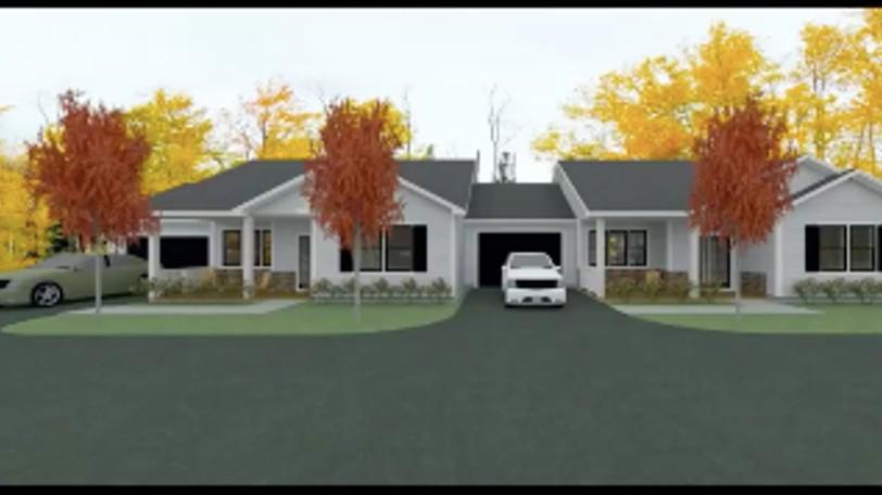 An artist's rendering of a proposed garden home near Kingsbrae Garden.