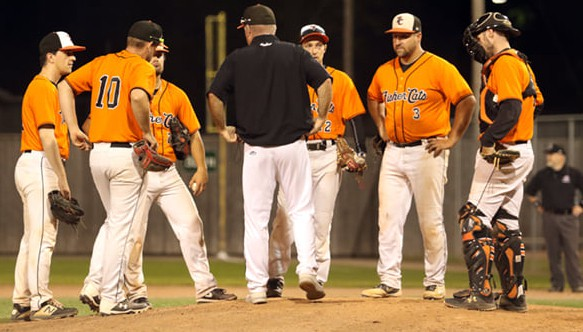 Game 3 of the New Brunswick Senior Baseball League final between the Moncton Fisher Cats and Charlottetown Islanders on Wednesday at Kiwanis Park was postponed because of inclement weather in the forecast.