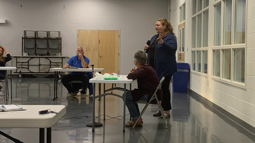 Janice King, left and Jennifer Campbell, right, presented to council on Sept. 14 on why they need to replace the barriers on the Trans-Canada Trail in Woodstock.
