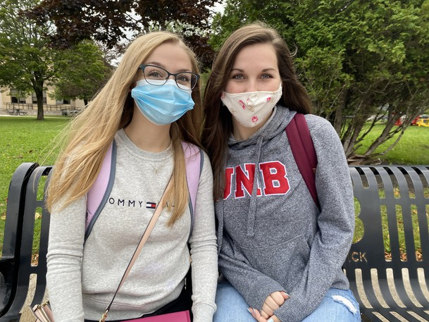 Ally Hebert and Danica Law, who are both third-year students at the University of New Brunswick Saint John, are getting ready to vote in the Sept. 20 federal election. They won't be able to do that on campus, though, because Elections Canada won't be offering campus polls this election.