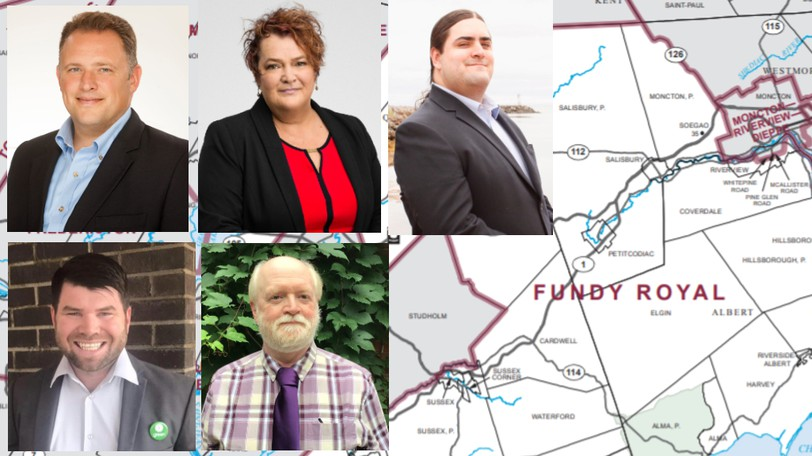The candidates in Fundy-Royal are Rob Moore (Conservative),Whitney Dykeman (Liberal), Josh Floyd (NDP), Tim Thompson (Green) and Wayne Wheeler (PPC).