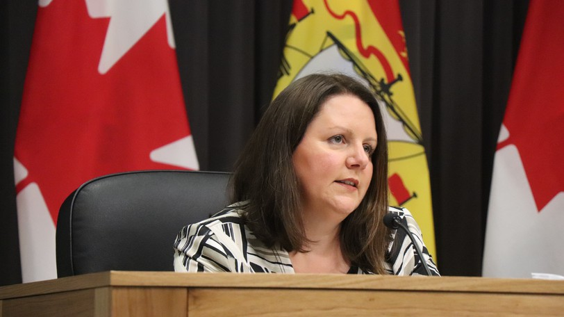 Dr. Jennifer Russell, the province's chief medical health officer, is pictured in this photo.