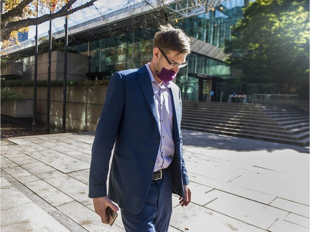 Alexander Shevalev leaves BC Supreme Court in Vancouver, BC Wednesday, September 15, 2021. Shevalev is in court answering second-degree murder charges stemming from an incident where his father was killed due to the purchase of a Ferrari.