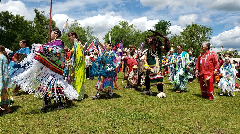 Dancers at the St. Mary's First Nation annual powwow in 2019. The first nationin Fredericton has postponed its popularannual powwow, scheduled for Saturday, because of the recent rise in cases of COVID-19 in New Brunswick.