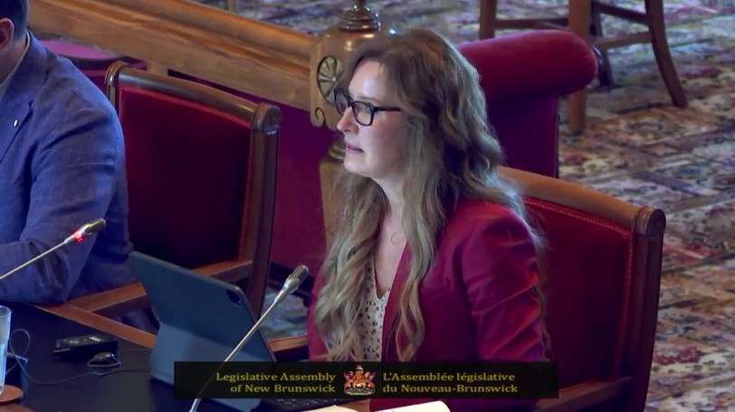 Dr. France Desrosiers, president and CEO of Vitalité Health Network, addressed the Standing Public Accounts Committee in Fredericton on Thursday, Sept. 16, 2021.