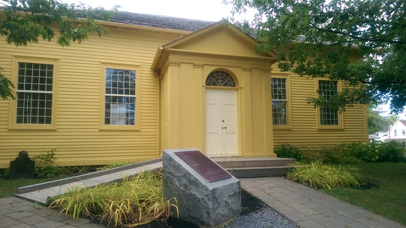 The Free Meeting House on Mountain Road was built in 1821 and stands as Moncton's first and oldest public building.
