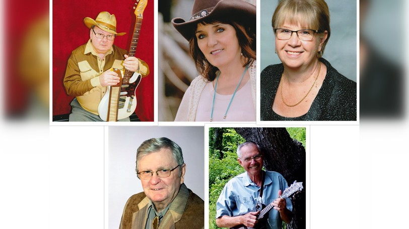 Five musicians will be inducted to the New Brunswick Country Music Hall of Fame Oct. 16 in Miramichi. They include (top row, from left): Blaine Morrison, Flo Durelle, and Cheryl Ellis. Bottom row, from left: Gary Hooper and Elmo MacDonald, who's being honoured posthumously.