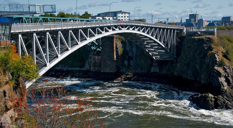 The reversing falls is pictured in Saint John. While the city relies on more than $250 million in annual tourism revenue, officials are expecting fewer visitors after the vaccine passport announcement was made by Premier Blaine Higgs.