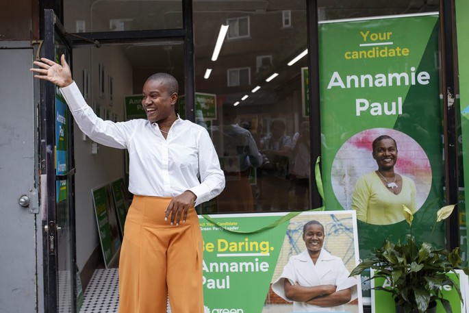 """Annamie Paul has resigned as the leader of the federalGreen party, citing a lack of resources from her own party and """"tremendous struggle"""" to carry out her election campaign."""