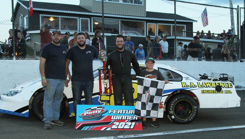 Matt Rodgers of Smithtown won a 100-lap sportsman feature at Petty International Raceway's Mike Stevens Memorial on Saturday in River Glade.