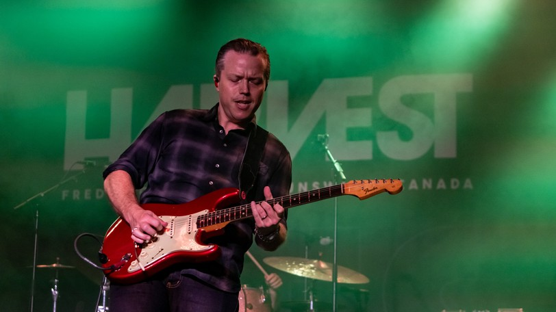 Jason Isbell and his band the 400 Unit perform at this year's Harvest Music Festival.