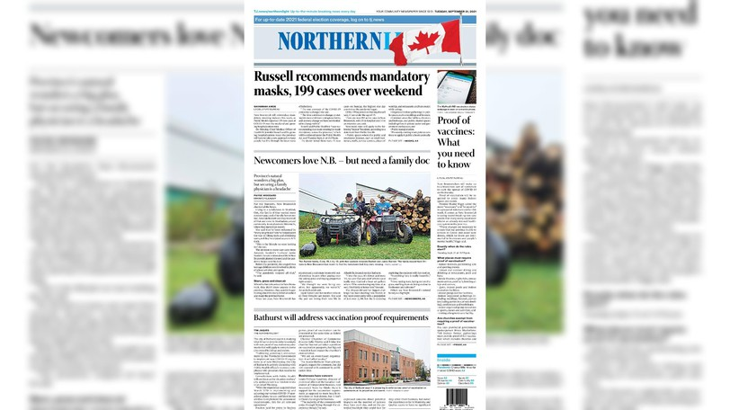 Pictured is the front page of the Sept. 21 edition of The Northern Light.