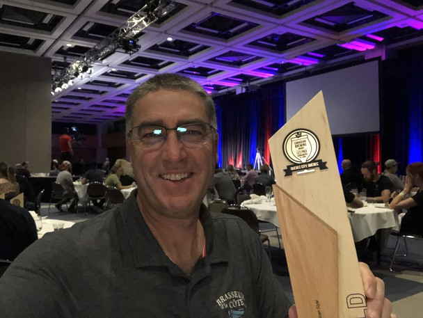 Tracadie brewery Brasseux d'la Côte took home gold in the North American style wheat beer category during the 19th edition of the Canadian Brewing Awards held in Quebec City Sept. 18. Pictured is general manager Denis Poirier with the award.