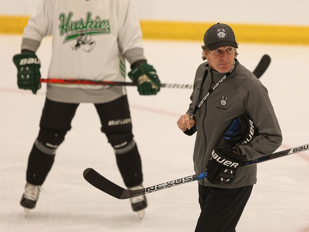 Long-time NHL coach Mike Babcock is now coaching the U of S Huskies men's hockey team at Merlis Belsher Place.