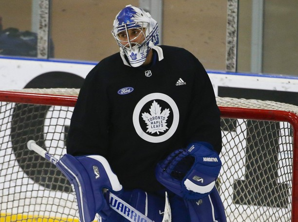 Goalie Petr Mrazek signed as a free agent with the Leafs this summer.