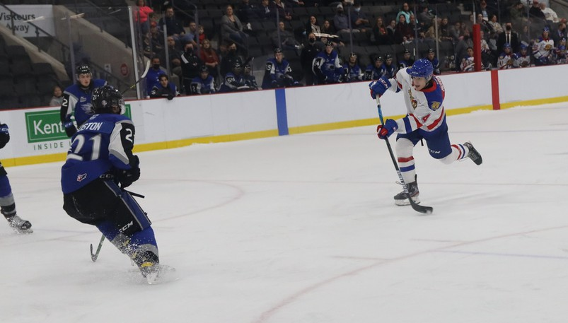 Defenceman Étienne Morin, right, and the Moncton Wildcats complete their QMJHL pre-season schedule with a pair of weekend games against the Charlottetown Islanders.