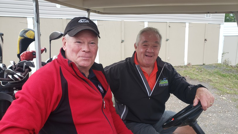 Right handers Jamie Daye and Mark Parker are fixtures almost daily at the Restigouche Golf and Country Club. On Monday, their left-handed opponents Ken Day and Doug Henderson quickly left the course after losing on the 22nd hole of their match.