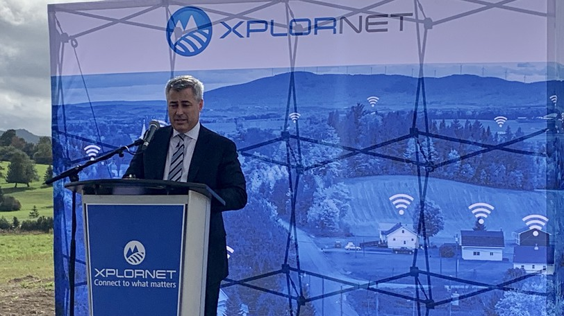 Allison Lenehan, president and CEO of Xplornet Communications Inc. announces the company's launch of Xplornet's first rural 5G standalone network in Canada.