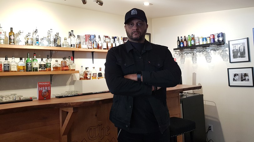 """Rob Reese, owner of The Royal Barbershop, says a tense encounter with a provincial enforcement officer over him serving alcohol in the licensed """"speakeasy"""" part of his downtown shop left the small businessman feeling racially targeted even though he'd done nothing wrong."""