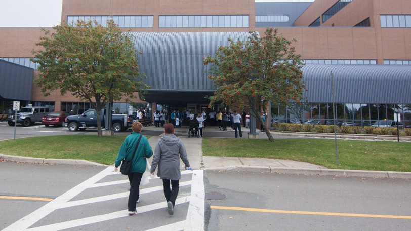The Campbellton Regional Hospital is pictured. The province's two health networks announced Wednesday they were banning all visitors who were not fully vaccinated.