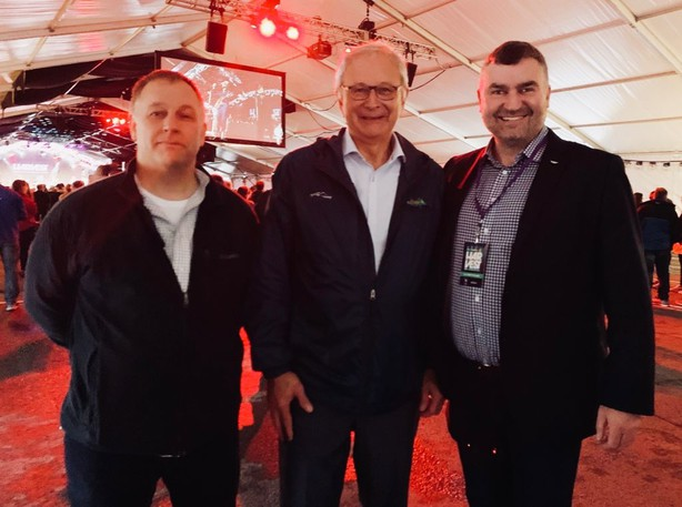 Premier Blaine Higgs is pictured at the Harvest Music Festival in Fredericton last week.