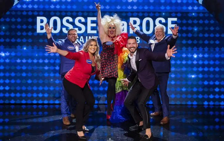 The Bosse-LaRose team, set to be fatured on the Family Feud season premiere on Sept. 27at 8 p.m. Atlantic standard time, includes Scott Bosse/Contessa as the captain, Bosse's husband Andrew, his father John, and his two siblings, Brianna and Jason.