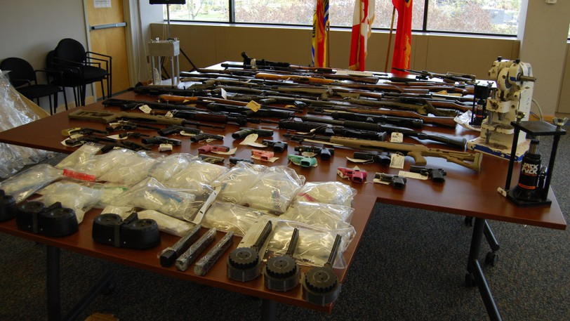 Drugs and major firearms seized at a Lake George home May 19, 2020.