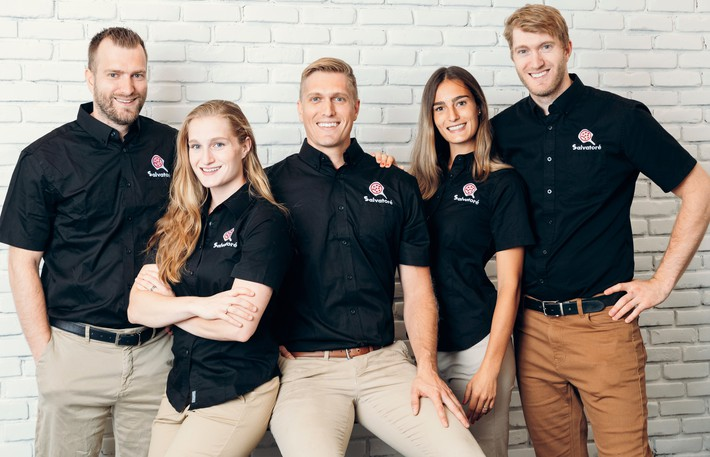 Pizza Salvatoré wants to set up shop in Fredericton. Pictured are the company's five partners : Guillaume Jr, Elisabeth, Sébastien, Katarina and Frédéric Abbatiello.