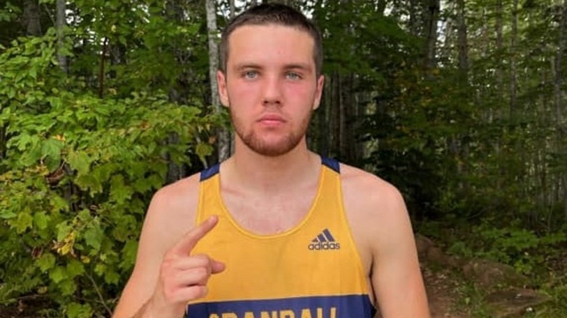Oromocto's Sean Finnigan, a first-year runner for the Crandall University Chargers, has been named Atlantic Collegiate Athletic Association male athlete of the week.