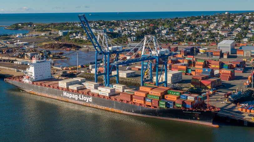 Shipping containers at Port Saint John. The federal government ought to focus on supporting an export-driven economy to help pay for its many promises, writes David Campbell.