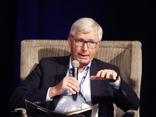 Guy Saint Jacques, speaks during the Global Business Forum at the Banff Springs Hotel in Banff, AB, Canada on Thursday, September 23, 2021.